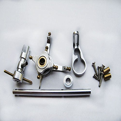 Hobbypower CNC Alloy Metal Upgrade Set for Wl V911 Nine Eagles 260a Micro Helicopter Silver