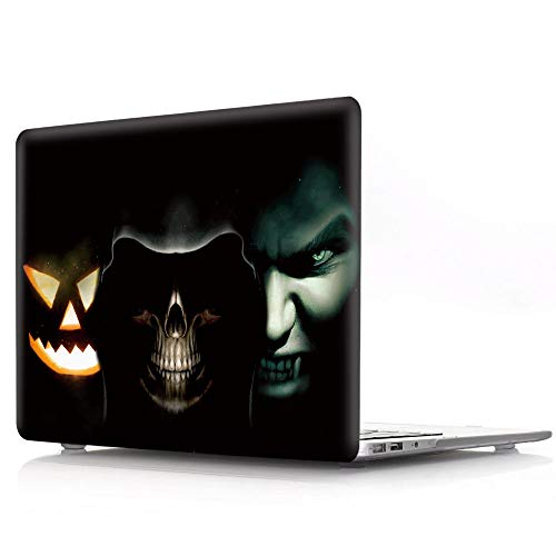HRH Halloween Three Grimace Faces Design Laptop Body Shell Protective PC Hard Case for MacBook Air 13.3