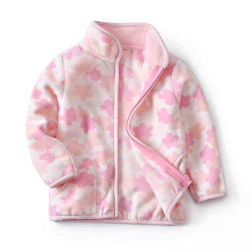 Feidoog Toddler Polar Fleece Jacket HoodedBaby Boys Girls Spring Autumn Long Sleeve Thick Warm Outerwear,Pink ()