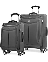 Inflight 2 Piece Spinner Luggage Set, Black