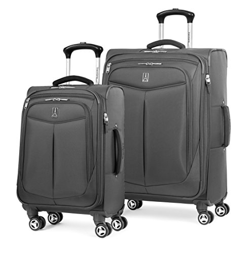 Travelpro Inflight 2 Piece Spinner Luggage Set, Black by Travelpro