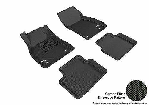 Buick Regal Black Carpet - 3D MAXpider Complete Set Custom Fit All-Weather Floor Mat for Select Buick Regal Models - Kagu Rubber (Black)