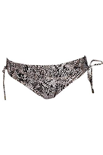 Calvin Klein Women's Plus Snake-Print Side-Tie Bikini Swim Bottoms (Brown, Medium) (Klein Calvin Print Bikini)