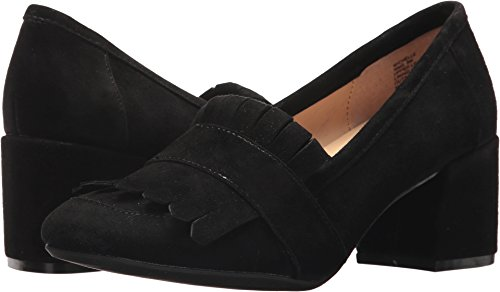 Leather Loafer Heels (Kenneth Cole REACTION Women's Michelle Kilty Toe Block Heeled Dress Pump, Black, 7.5 Medium US)