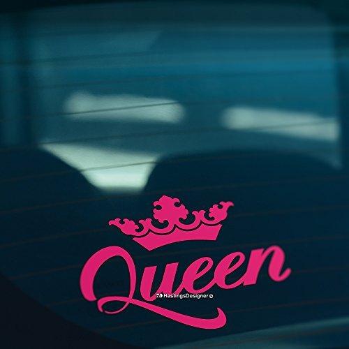 hiusan Queen Crown Funny Car Stickers Bumper Sticker Car Window Decal Macbook Laptop Stickers Vinyl for Men,for Women