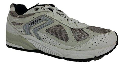 GEOX U ALCOR C-MESH+TUMB.LEA WHITE/GREY U91A6C 01446 C0284