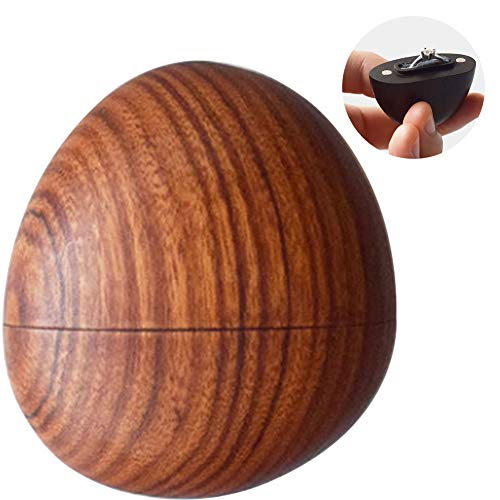 PLAFUETO Proposal Ring Box Rosewood Cobblestone Mini Creative Portable Wedding Ceremony Jewelry Box