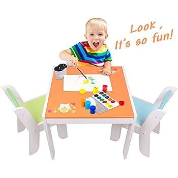 Amazon Com Melissa Amp Doug Solid Wood Table And 2 Chairs