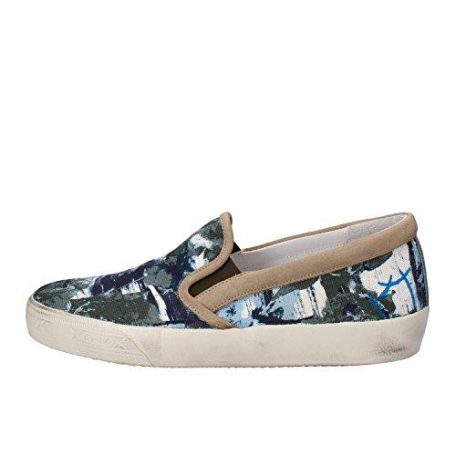 Chaussures Homme PHILIPPE MODEL Mocassins bleu / vert / beige Textile AM771