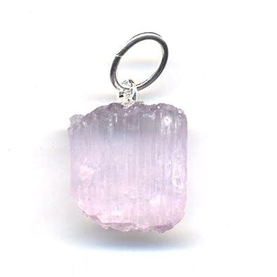 Raw pink kunzite pendant amazon jewellery raw pink kunzite pendant mozeypictures Gallery