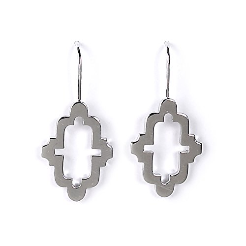 Jody Coyote Earrings Alhambra collection ALH-0115-05 silver