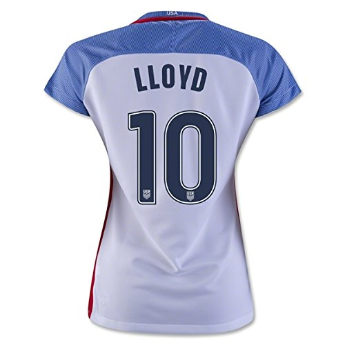 Carli Lloyd #10 2016 Women's 3 Star USWNT Home White Women's Soccer Jersey