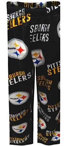 Pittsburgh Steelers Mens Fleece Black Lounge Pants for Men
