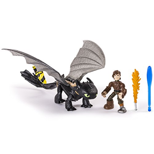 - Dreamworks Dragons: Race to the Edge Dragon and Racer Hiccup Action Figure and Toothless