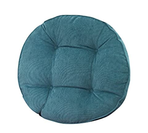 Corduroy Thicken Padded Chair Pad Stool Cushion Round Stuffed Backrest Shaped LivebyCare Filled Seat Back Cushions Insert Filling for Decor Decorative Bed Family (Round Chair Pads With Ties)