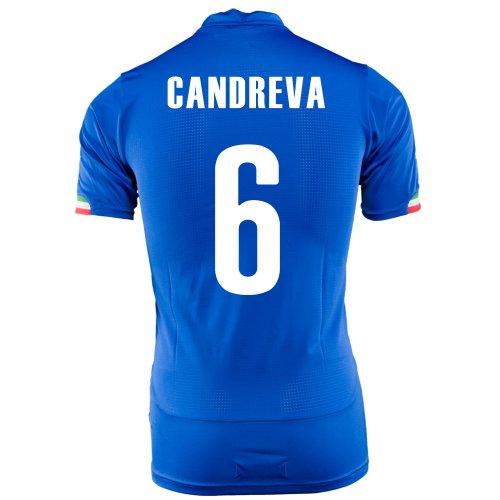 影響伝説クルーPUMA CANDREVA #6 ITALY HOME JERSEY WORLD CUP 2014/ サッカーユニフォーム イタリア代表 ホーム用 ワールドカップ2014 背番号6 カンドレーヴァ