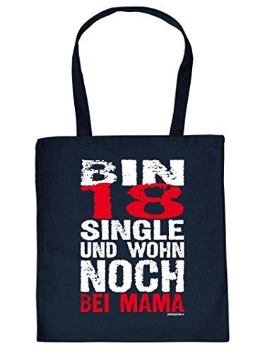 BIN 18 SINGLE .... -Tote Bag Henkeltasche Beutel mit Aufdruck. Tragetasche, Must-have, Stofftasche. Geschenkidee