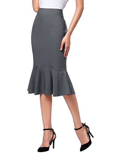 - Women Vintage High Waist Wear to Work Bodycon Pencil Skirts L K241-4