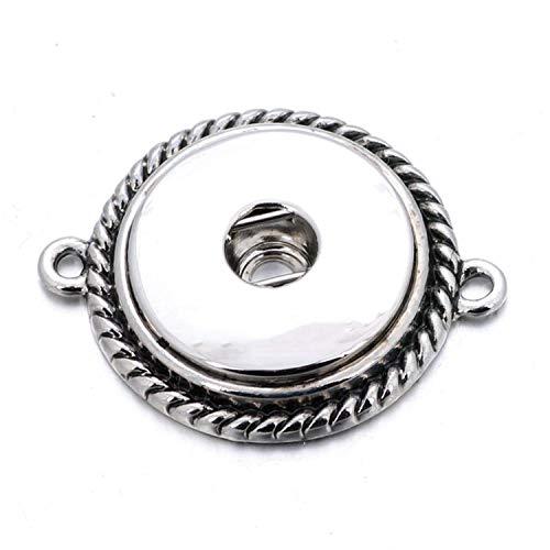 Display Oak Ridge - kajaop 10pcs/lot Interchangeable DIY Charm S Buttons 18mm/12mm S Jewelry Finding for Make S Button Bracelets Necklace,8