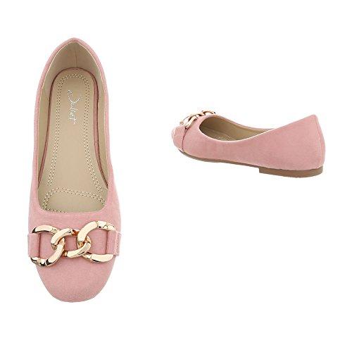 1 Design Ital Mocassini Piatto Slipper da rosa Scarpe A Donna 166 vxFF1U