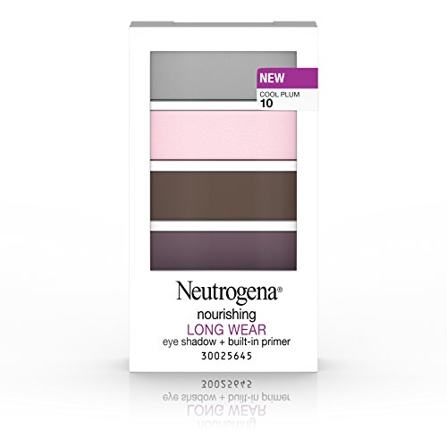 Neutrogena Nourishing Long Wear Eye Shadow + Built-In Primer, 10 Cool Plum, .24 Oz. (Smoldering Plum)
