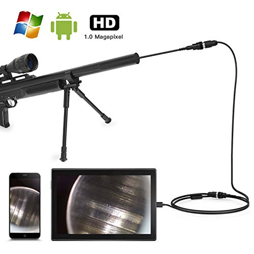 Teslong Rifle Borescope, Short Focus Gun Barrel Camera with Side-View Mirror.195 inches Caliber for All Barrel Inspection, Compatibale with Android, Mac, Windows, Linux, 1.0 Megapixel