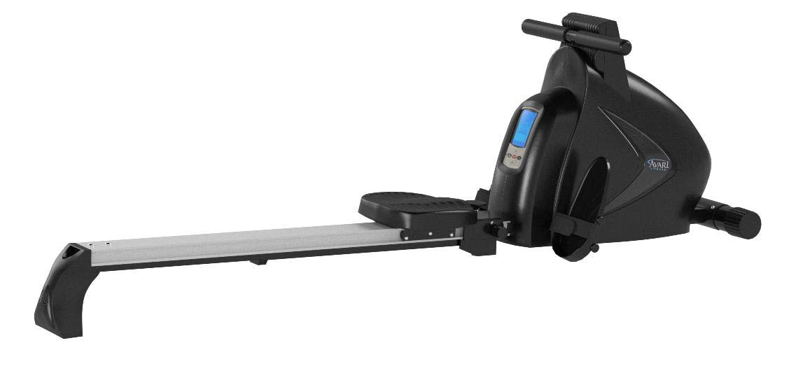 Avari A350-700 Stamina Programmable Magnetic Exercise Rower, 81'' L x 20'' W x 24.5'' H, Black/Silver by Avari (Image #7)