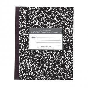 "Bulk Flex Marble Composition Books 8.5""x7"" Wide Margin, 24 Sheets: Roaring Spring 77331 (144 Composition Books)"