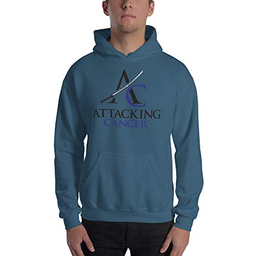 Hooded Sweatshirt (Colon Cancer) Indigo Blue