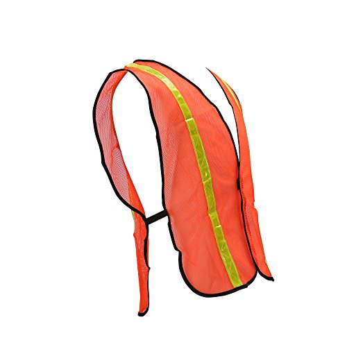 High Visibility Safety Vests 10 Packs,Adjustable Size,Lightweight Mesh Fabric, Wholesale Reflective Vest for Outdoor Works, Cycling, Jogging, Walking,Sports - Fits for Men and Women (Neon Orange) by zojo (Image #5)