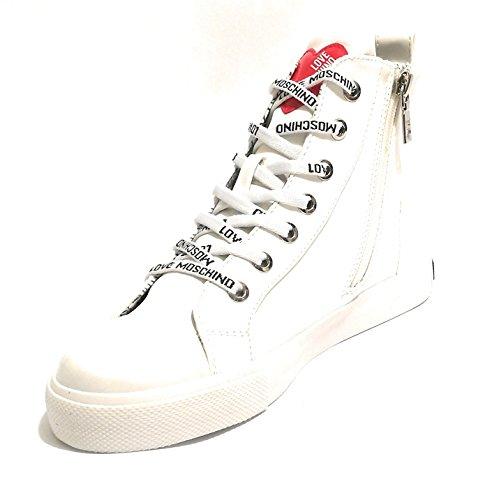 Pour Bianco Blanc Femme Baskets Moschino P0nw5qAH5