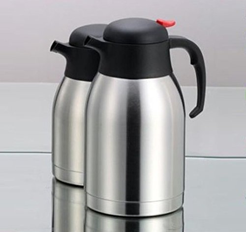 Wealers Double Wall Vacuum Insulated Stainless Steel Carafe Coffee Beverages Carafe, Thermal Carafe with Large Mouth Opening Capacity 50-ounce Keep Beverages Hot or Cold for 24 Hours (50 Ounces ) 1.5l Vacuum Thermal Carafe