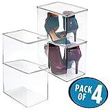 mDesign Stackable Closet Plastic Storage Bin Box