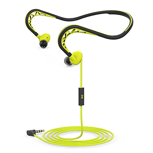 In-Ear Headphones Sport Earbuds Wired Stereo Earpieces Headset Noise Reduction Earphones with Mic ,3.5mm In Line Remote Control Neckband Running Gym Stereo Earphones Outdoor Corded Headsets (Green)