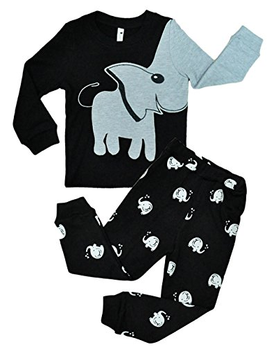 Boys Pajamas Elephant 2 Piece Kids Pjs Sets 100% Cotton Toddler Sleepwears