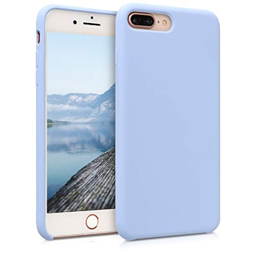 kwmobile TPU Silicone Case for Apple iPhone 7 Plus / 8 Plus - Soft Flexible Rubber Protective Cover - Light Blue (Silicone Case Blue)