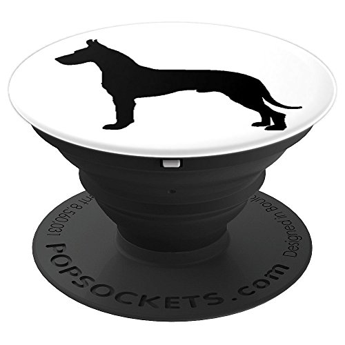 Great Dane Pet Dog Black and White - PopSockets Grip and Stand for Phones and Tablets