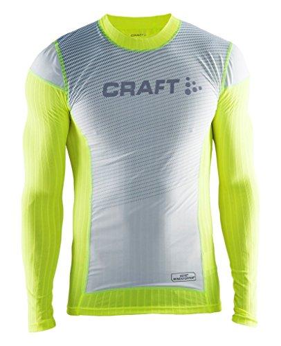 - Craft Sportswear Men's Active Extreme 2.0 Crewneck Windstopper Windproof Lightweight Long Sleeve Training Shirt, Flumino/Silver, X-Large