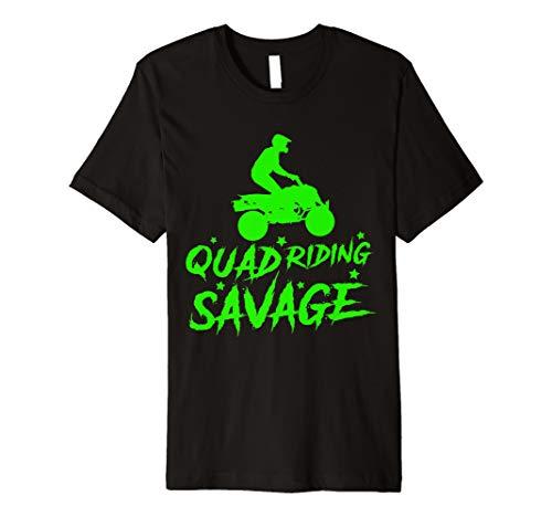 Quad Riding Savage ATV Four Wheeler Kids Offroad Gift Premium T-Shirt