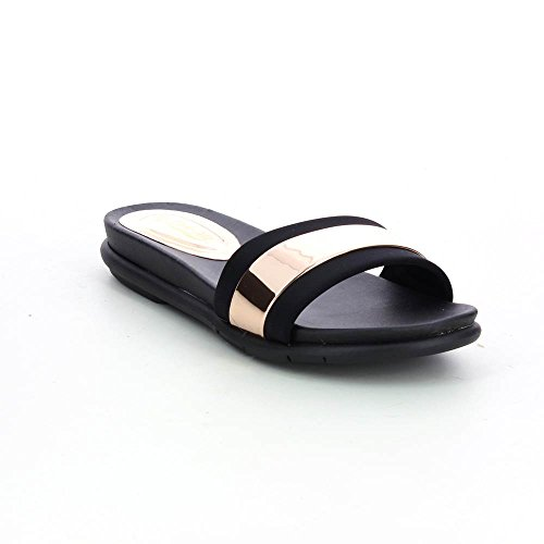 Sandalias metálicos para mujer ultra cómodo Marrón