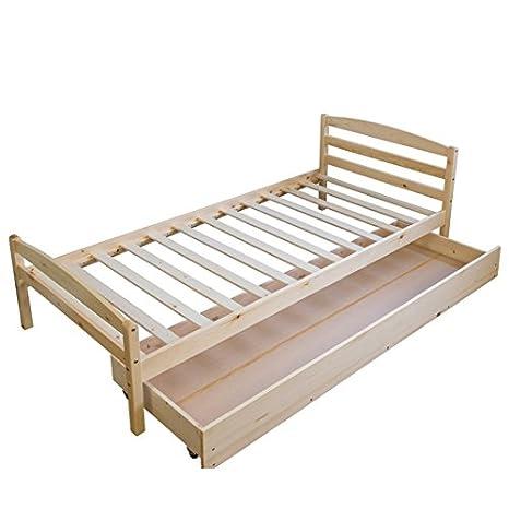 Décoshop26 Cama Nido para niños 90 x 200 cm somier y cajón Madera lit06078: Amazon.es: Hogar