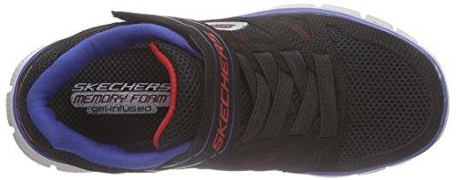 Skechers Flex Advantage 95526L, Zapatillas Deportivos, Niños Negro (Bkry)