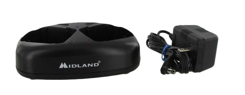 Midland AVP10 Dual Desktop Charger with AC Adapter