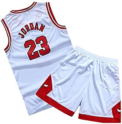 XCR Niños Chicos Niña Hombre Adulto NBA Michael Jordan # 23 Chicago Bulls Jersey Retro Swingman Pantalones Cortos de Baloncesto&Camisetas Set Verano ...