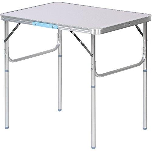 Klapptisch Campingtisch Gartentisch aus Aluminium und MDF belastbar bis 20kg