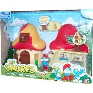 Mushroom Smurf (The Smurfs Papa Smurf's Mushroom House Playset with Papa Smurf Figure (2-1/2