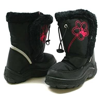Amazon.com | TOTES Girls' Waterproof Snow Boots Black