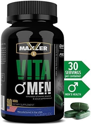 VitaMen   Premium Sport MultiVitamin for Men   Vitamins A C D E K & Vitamin B Complex, Amino Acid Blend, Enzyme & Digestive Aid (90)