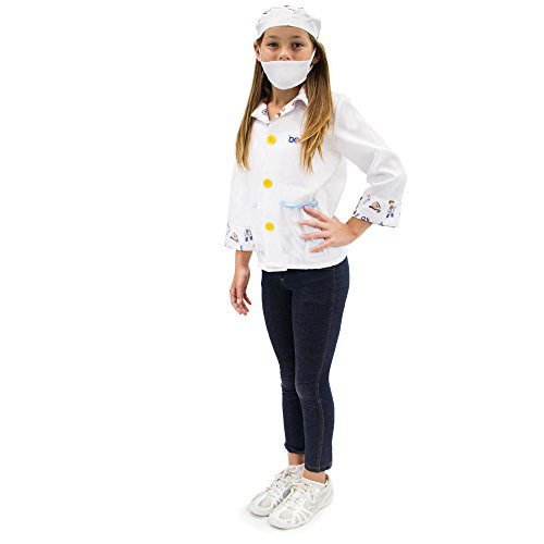 Brainy Doctor Children's Halloween Dress Up Theme Party Roleplay & Cosplay Costume, Unisex (S, M, L, XL) by Boo! Inc. (Youth X-Large (10-12)) -