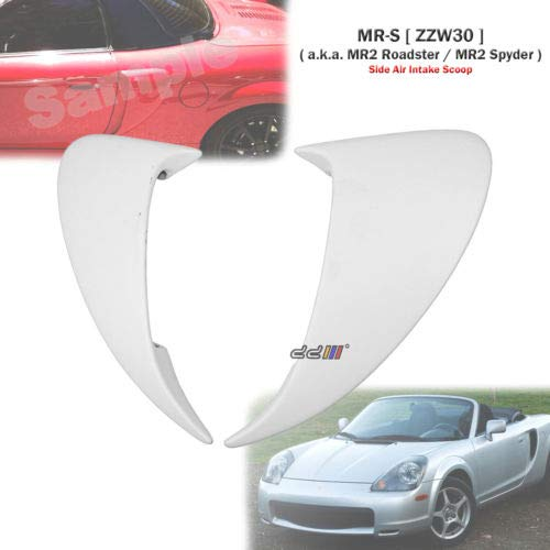 Fiber Glass Side Air Intake Scoop Vent Valance For Toyota MR2 Spyder ZZW30 ()